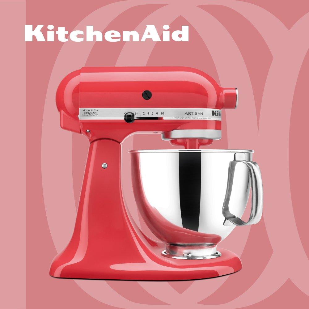 KitchenAid 桌上型攪拌機 抬頭型 5Q 4.8L 西柚紅