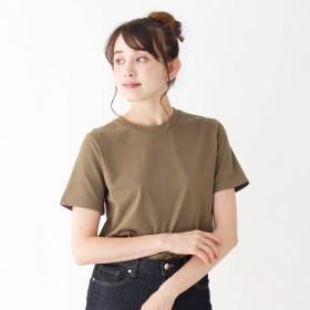 OPAQUE.CLIP(オペーク ドット クリップ)/コットンシンプルクルーネックTシャツ