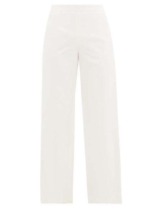 Merlette - Kadapul High-rise Cotton-twill Trousers - Womens - Ivory