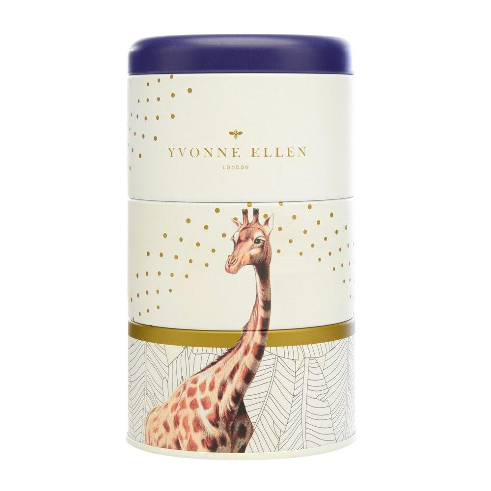 英國Wax Lyrical  動物饗宴YVONNE ELLEN三層蠟燭禮盒-原野茉莉花 (長頸鹿)