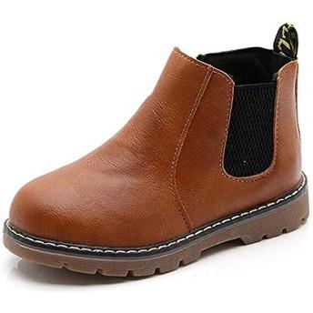 子供ブーツ 男の子 女の子 ショートブーツ 裏ボア 防水ブーツ ジッパー付き 履きやすい 滑り止め 通学 通園 (サイズ:1321.5cm) (20.5cm)