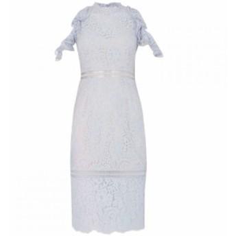 キープセイク Keepsake レディース ワンピース ワンピース・ドレス Cold shoulder layered pleated dress Blue
