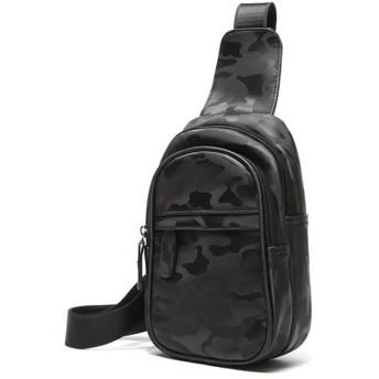 メンズキャンバスチェストバッグメンズカジュアルショルダーバッグメッセンジャーバッグチェストバッグ迷彩スポーツは小型バックパックをポケットにまたがります ビジネスバッグ (色 : Camouflage, サイズ : M)
