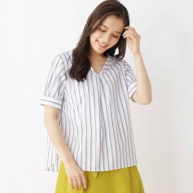 SHOO・LA・RUE/DRESKIP(シューラルー)/ブロ-ドパ-ル調釦半袖シャツ