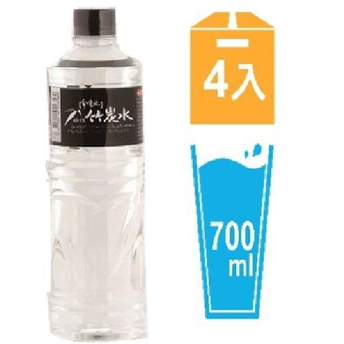 味丹 多喝水鹼性竹炭水(700mlX4瓶/組)[大買家]