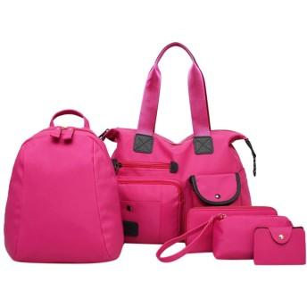 ファッションレディースアウトドアソリッドカラーナイロン5ピースショルダーバッグクロスボディバッグ 韓国風 可愛い 斜め掛け 肩掛け 鞄 かばん 軽量 通勤 通学 日常 旅行 結婚式 二次会 パーティー おしゃれ 人気
