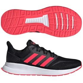 アディダス (adidas) レディース FALCONRUN W(コアブラック×ショックレッド×ランニングホワイト) F36270 [分類:ランニング ジョギングシューズ (レディース)]