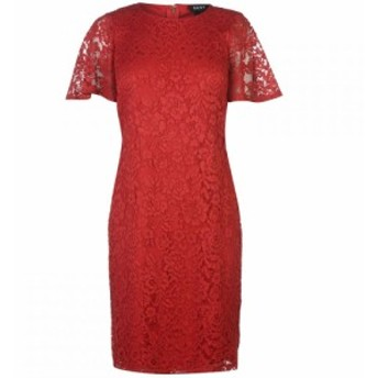 ディーケーエヌワイ DKNY Occasion レディース ワンピース ワンピース・ドレス Drape Sleeve Sheath Dress Cherry Red