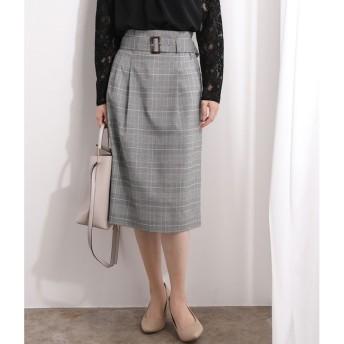 【ビス/ViS】 【EASY CARE】グレンチェックハイウエストスカート