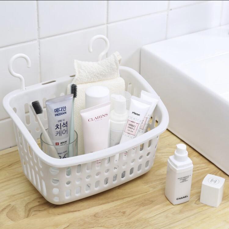 收納筐洗澡置物籃可掛式收納籃(長方形小號