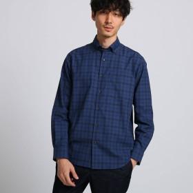 TAKEO KIKUCHI(タケオキクチ:メンズ)/トップチェックワイド ボタンダウンシャツ