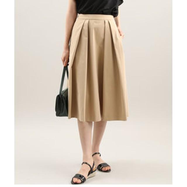 【ViS:スカート】【EASY CARE】フレアタックスカート