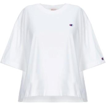 《セール開催中》CHAMPION レディース T シャツ ホワイト L コットン 100%