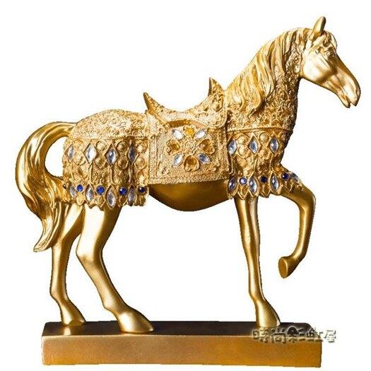 歐美風格戰馬擺飾開業禮品時尚創意馬擺件樹脂工藝品送禮佳品禮品「 聖誕節交換禮物」