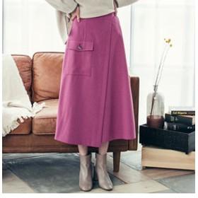 【J Lounge:スカート】モクチョウサージストレッチスカート