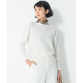 (NIJYUSANKU/ニジュウサンク)【洗える】コットンブレンドコード ニット/レディース ホワイト系