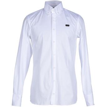 《セール開催中》PHILIPP PLEIN メンズ シャツ ホワイト XL コットン 100%