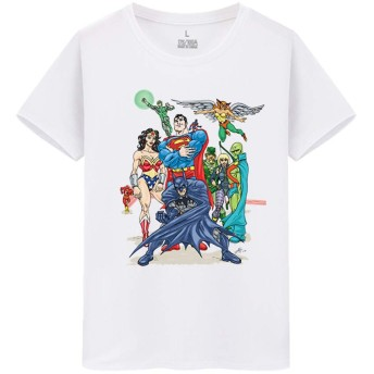 Justice League Superhero ジャスティスリーグ DC Superheroes メンズ/レディース Tシャツ/夏服 半袖 Tシャ
