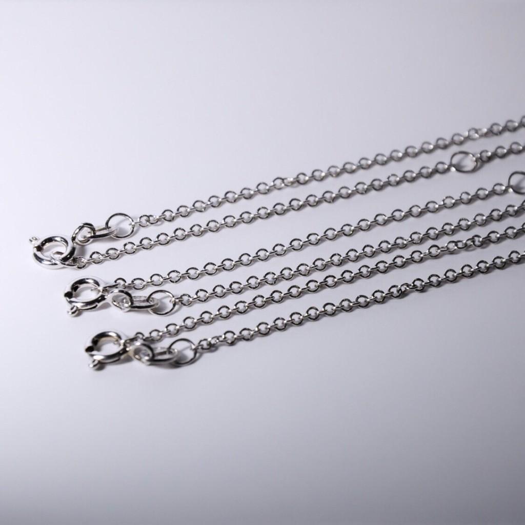 925純銀鍊 全長約46cm 配戴約23cm 女生銀鍊 男生銀鍊