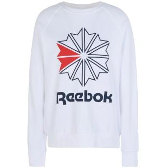 《セール開催中》REEBOK レディース スウェットシャツ ホワイト XS コットン 100% F STARCREST CREWNECK