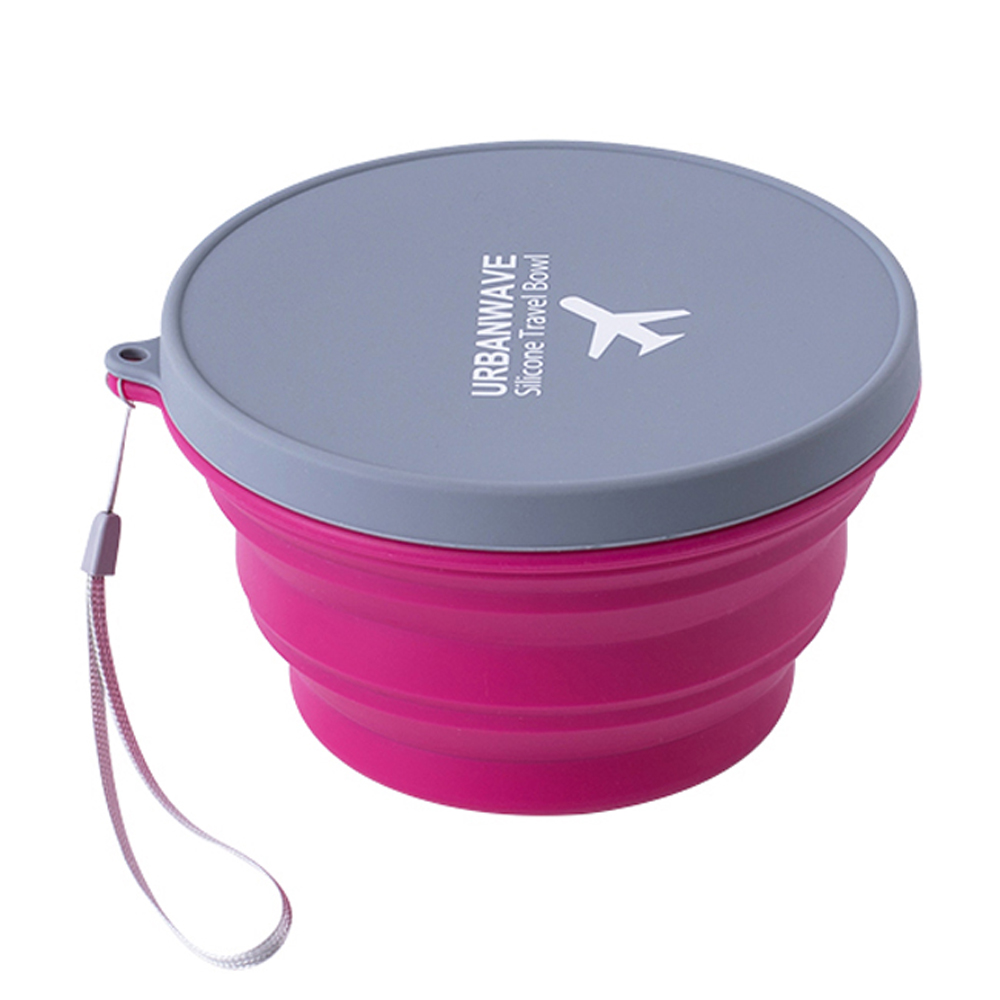 iSFun旅行隨身耐熱大容量矽膠摺疊碗杯 中號隨機色