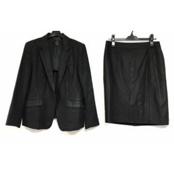 ニジュウサンク 23区 スカートスーツ サイズ44 L レディース 黒 ストライプ【中古】20200115
