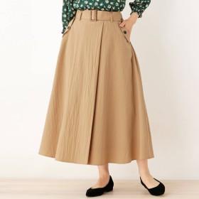 SHOO・LA・RUE/DRESKIP(シューラルー)/【M-LL】ラップ風タックデザインスカート
