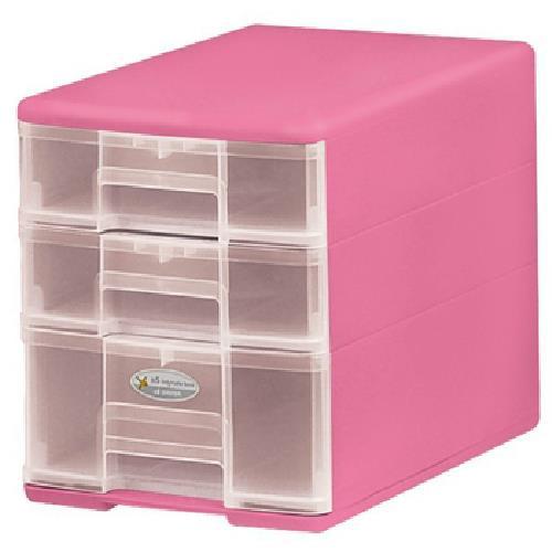樹德 3抽 玲瓏盒 B5-PC12(顏色隨機出貨)(180WX260DX215H mm)[大買家]