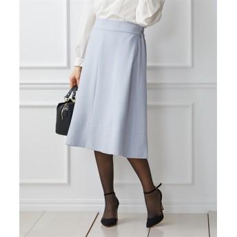 ウール調素材で華やか♪フレアミディ丈スカート (ひざ丈スカート)Skirts