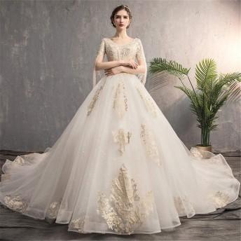 ウェディングドレス 花嫁衣装 女性のシフォンワンワードショルダーVネックショートフラッタースリーブエレガントシフォンロングイブニングドレス 結婚式 演奏会 (色 : White, Size : XL)