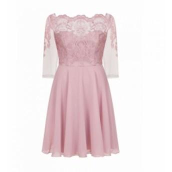 チチ Chi Chi レディース パーティードレス ワンピース・ドレス Baroque Style Tea Dress Rose Gold
