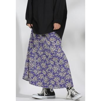 LIPSTAR 花柄マーメイドスカート その他 スカート,ダークネイビー