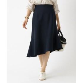 【aquagirl:スカート】マイクロダブルクロスアシメスカート
