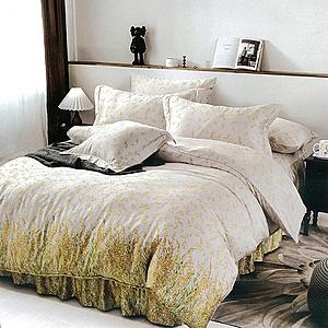 【Indian】100%純天絲雙人特大四件式鋪棉床包兩用被組-艾琳夢境6*7