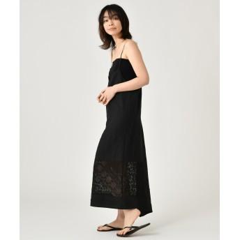 CEPIE. セピエ 【予約】セピエ / リネン×レーススリップドレス ワンピース,black