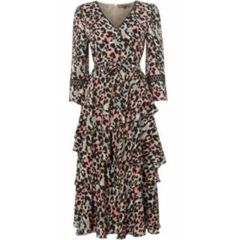 ビバ Biba レディース ワンピース ワンピース・ドレス Leopard Kimono Dress Multi-Coloured