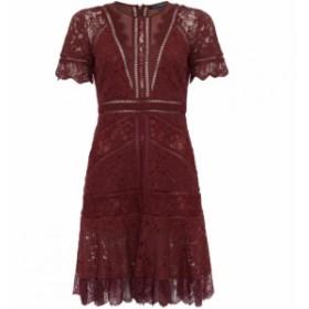 フレンチコネクション French Connection レディース ワンピース ワンピース・ドレス Chante Lace Mix Dress Red