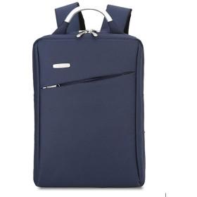 ノートパソコン用のバッグ 男性と女性のショルダーバッグ防水ナイロンのバックパックは、別紙15.6インチコンピューターバッグを販売します (色 : 青)