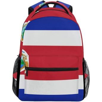 学校のバックパックは女の子のために大きいコスタリカの学生のバックパックの雑多な旗