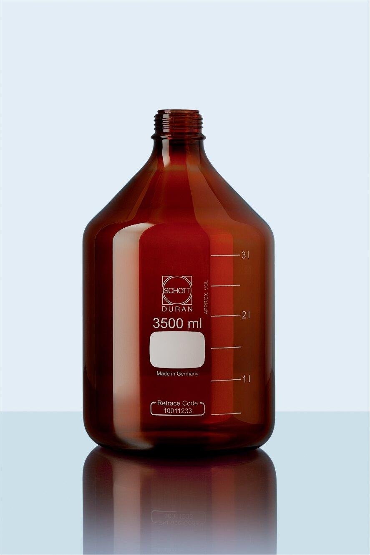 《實驗室耗材專賣》DURAN SCHOTT 德製 GL45 茶色玻璃血清瓶 5000ML【1支】 耐熱玻璃瓶 試藥瓶 收納瓶 儲存瓶 樣品瓶