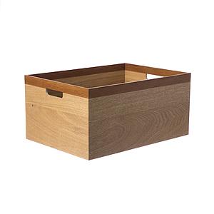 HOLA Kiri雙色木質收納盒(LH)