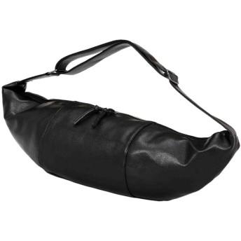 餃子バッグメッセンジャーバッグトラベルバッグショルダーバッグカジュアルメンズバッグ乗馬屋外にはウォレットカードホルダー傘収納袋ポケット ビジネスバッグ (色 : Black, サイズ : S)