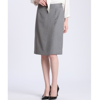 INED / ピンストライプラップデザインスカート