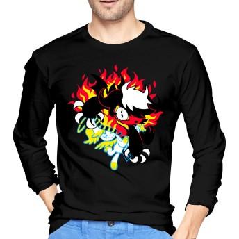 メンズ Tシャツ 長袖 ティーシャツ ロングスリーブ Elvis エルビスプレスリー トレーナー ロンT クルーネック カットソー 薄手 部屋着 インナー おしゃれ シンプル 無地 カジュアル スポーツウエア トップス 4色 大きいサイズ