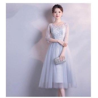 お揃いドレス ブライズメイド服 花嫁 ウェディングドレス 花嫁の介添えドレス ロングドレス プリンセスドレス 花嫁の結婚式 5タイプ選択