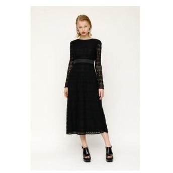 スライ SLY CIRCLE LACE DRESS (ブラック)