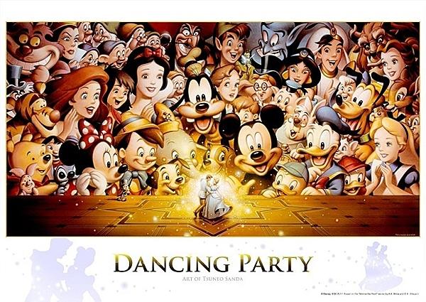 Dancing Party  /300P/Tenyo/迪士尼/日本進口拼圖
