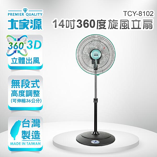 大家源 14吋360度旋風立扇 電風扇 TCY-8102