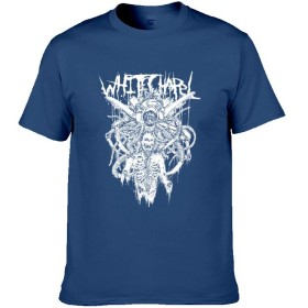 Whitechapel Tシャツ 半袖 男性 丸襟 春 夏 秋 トップス 気軽 おしゃれ 上質 ゆったり 普段着 Navy XL