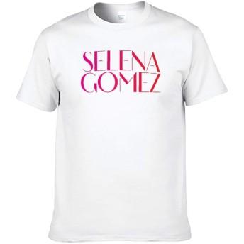 セレーナ・ゴメス Selena Gomez Tシャツ 半袖 メンズ 丸首 春夏秋 上着 快適 おしゃれ 上質 ゆったり 日常 white 5XL